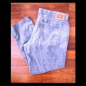Levis crop pants
